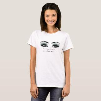 Makeup Artist Beauty Lashes Studio Teal Gray Eyes T-Shirt