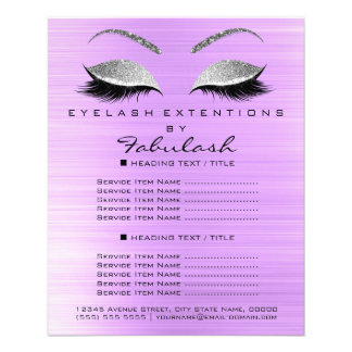 Makeup Artist Beauty Salon Silver Glitter Lavanda5 Flyer