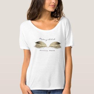 Makeup Artist Beuty Lashes Sepia Gold Glitter T-Shirt