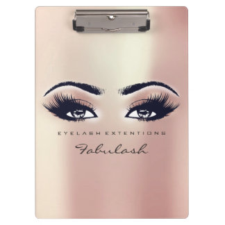 Makeup Artist Brown Studio Lashes Pink Rose Pearly Clipboard