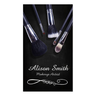 Makeup Artist brushes/Cosmetic Brushes Business Cards