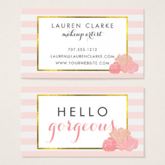 Makeup Artist Cards   Hello Gorgeous Double-Sided
