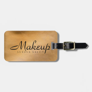 Makeup Artist Copper Metallic Luggage Tag