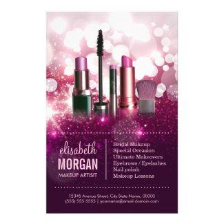 Makeup Artist Cosmetician - Pink Beauty Glitter