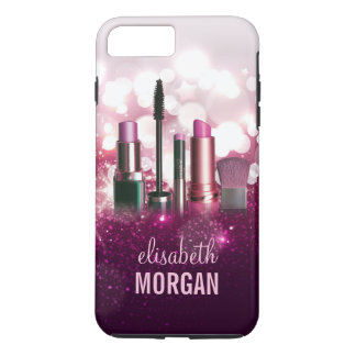 Makeup Artist Cosmetician - Pink Beauty Glitter iPhone 8 Plus/7 Plus Case