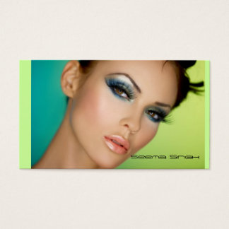 Makeup Artist cosmetics Full Face Business Card
