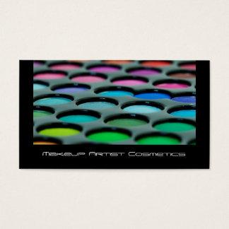 Makeup Artist Cosmetics Palette Business Card
