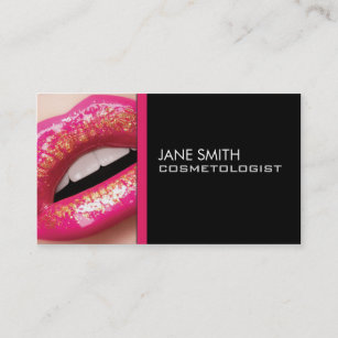 Makeup artist business cards business card printing zazzle ca makeup artist cosmetologist cosmetology elegant business card colourmoves