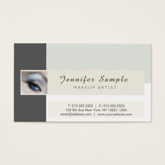 Makeup Artist Cosmetologist Premium Silk Finish Business Card
