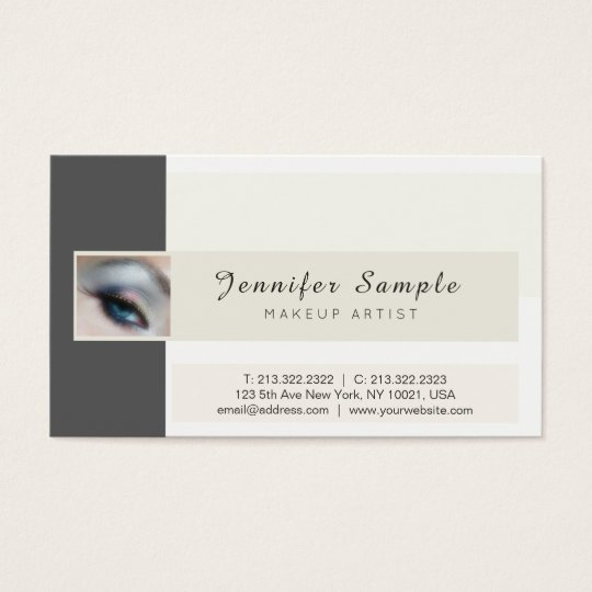 Makeup Artist Cosmetologist Signature UV Matte Business Card
