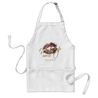 Makeup Artist - Dark Rose GoldGlitter Lips Standard Apron