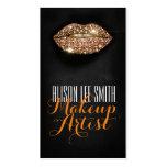 Makeup Artist / Diamonds Sparkle Lips Plantilla De Tarjeta De Negocio