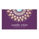 Makeup Artist  Elegant Gold Ornate Motif Purple Business Card