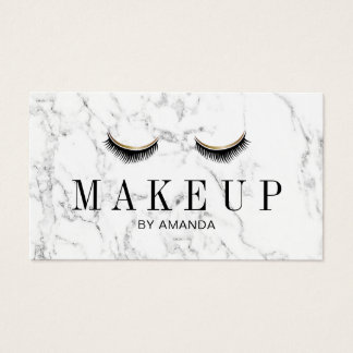 Makeup Artist Elegant Marble Beauty Salon Business Card