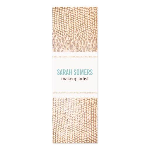 Makeup Artist Faux Gold Gold Snake Skin Texture 2 Business Card Templates