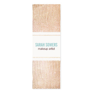 Makeup Artist Faux Gold Gold Snake Skin Texture 2 Pack Of Skinny Business Cards