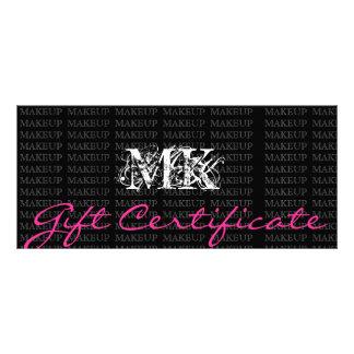 Makeup Artist Gift Certificate Pink Rack Card Design