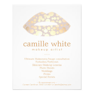 Makeup Artist Gold Lips Beauty Salon Flyer