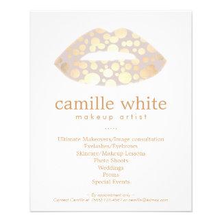 Makeup Artist Gold Lips Beauty Salon Full Color Flyer