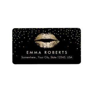 Makeup Artist Gold Lips Confetti Beauty Salon