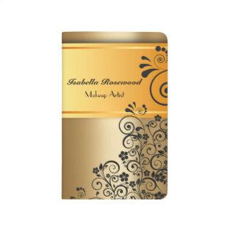 Makeup Artist Gold, Swirly Vines Journal