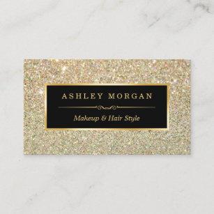 Hair stylist business cards profile cards zazzle ca makeup artist hair stylist funky gold glitter business card colourmoves