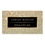Makeup Artist Hair Stylist Funky Gold Glitter Business Card