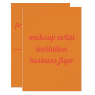 makeup artist invitation  flyer flat card