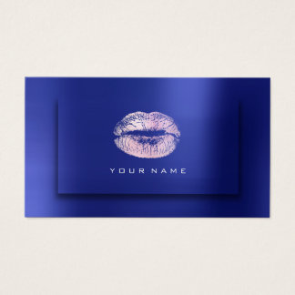 Makeup Artist Lips Beauty Cobalt Pink 3D Effect Business Card
