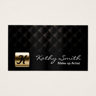 Makeup Artist Luxury Black & Gold Elegant Business Card