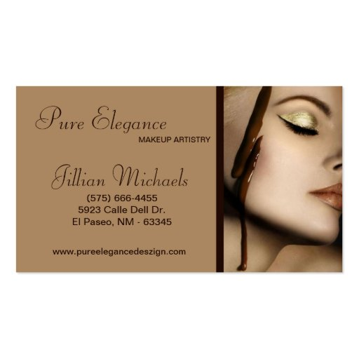 Makeup artist make up woman business card zazzle for Business cards for women