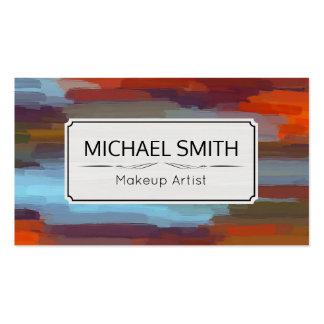 Makeup Artist Modern Abstract Art #40 Business Card