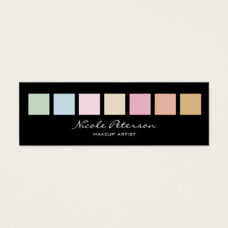 makeup artist - modern fine pastel colors mini business card