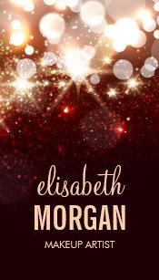 Sparkle business cards profile cards zazzle ca makeup artist modern glitter sparkle business card colourmoves