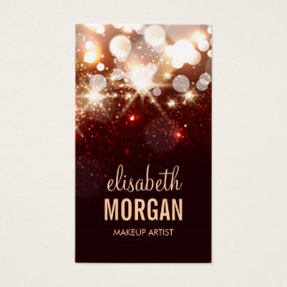 Makeup Artist - Modern Glitter Sparkle Business Card