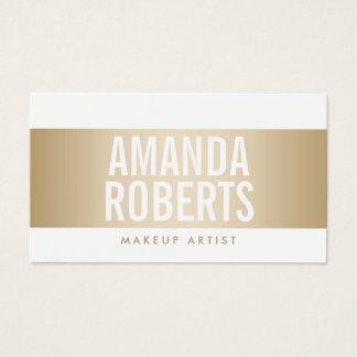 Makeup Artist Modern Gold Belt Bold Business Card