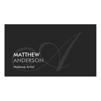 Makeup Artist - Modern Swash Monogram Business Card