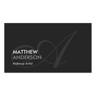 Makeup Artist - Modern Swash Monogram Pack Of Standard Business Cards