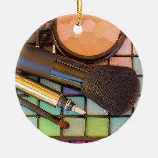 Makeup Artist Round Ceramic Ornament