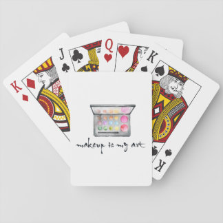 "Makeup Artist Palette - ""Makeup Is My Art"" Quote Playing Cards"