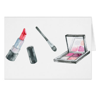 Makeup Artist Personalized Custom Art Card