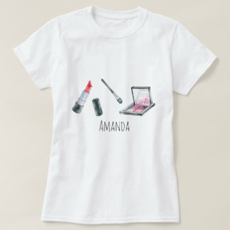 Makeup Artist Personalized Custom Art T-Shirt