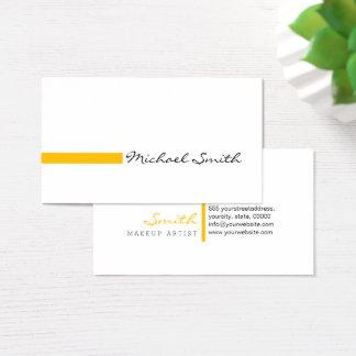 Makeup Artist Plain White Modern Amber Business Card