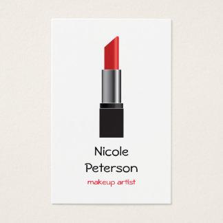 Makeup Artist Red Lipstick Business Card