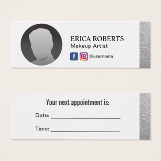 Makeup Artist Social Media Minimal Appointment Mini Business Card