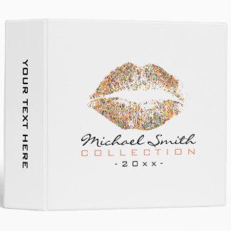 Makeup Artist Stylish Multicolor Glitter Lips #16 Vinyl Binder