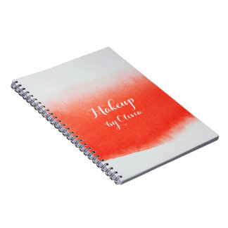 Makeup Artist Watercolor Coral Notebooks