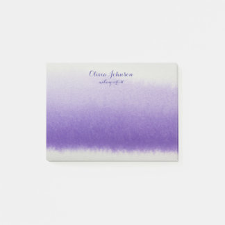 Makeup Artist Watercolor Lavender Post-it Notes