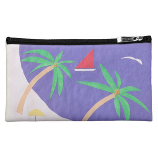 Makeup Bag with Beach Scene