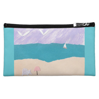 Makeup Bag with Ocean Scene